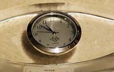 "Lenox Crystal ""Ovations"" Introspect Quartz Small Clock Made in Austria"