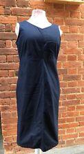 VINTAGE 80 s 90 s Liz Claiborne Dark Blue Soft Denim Jupe Dress 12/14