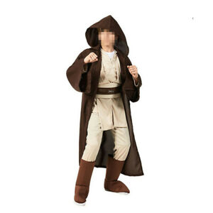 Star Wars Jedi Knight Kids Cosplay Costume Halloween Outfit Hooded Robe Full Set