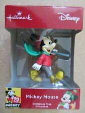 Disney Christmas Tree Ornament Mickey With Skis  - NEW