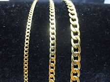 "3/5/7mm MEN WOMEN STAINLESS STEEL GOLD  CURB CUBAN CHAIN NECKLACE 18""-60""-GOLD"