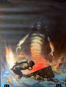 FRANK FRAZETTA Vintage 1980 Sea Monster Fantasy Poster UNUSED New Old Stock