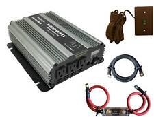 VertaMax 1000 Watt Pure Sine Wave Power Inverter + Cables + Fuse + ON/OFF Remote