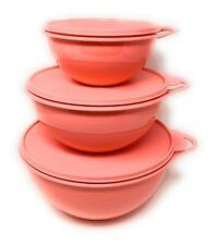 Tupperware Thatsa Bowls Set Of 3 in Guava New