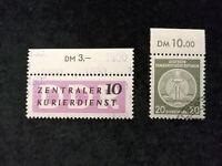 DDR Deutsche Demokratische Republik, Dienstmarke + ZKD ab 1954 - Randstücke