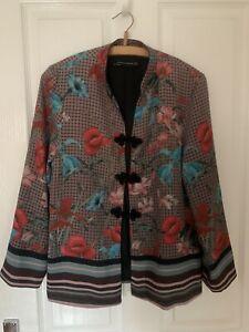 Zara Satin Chinese Mandarin Jacket Size XS 8 10 12 Coat