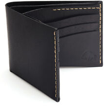 Bison Made No. 8 Pocket Wallet in Jet Black w/ White Stitch, Made in America