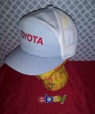 Vintage IMPORT Toyota Strapback Trucker Hat Cap Hat Canvas GRAY WHITE NEW NWT !