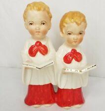 Vintage Choir Boys Figurine White Red Choir Boy Strawberry Blonde Red Heads