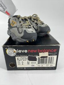 New Balance Baby Toddler Shoes Sneakers KJ703YI Gray and Yellow Size 2