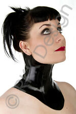MEDIUM Black Rubber Latex NECK CORSET lace-up looks awesome with catsuit