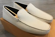 Tod's Pantofola Nuovo Gommini Bianco Stucco Drivers Us 10 Made in Italy