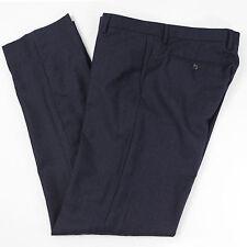 BANANA REPUBLIC Slim Fit Mens 36x35 Blue Flat Front Wool Dress Pants Fall Winter