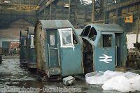 British Rail Class 40 cabs Melt Shop Crewe works 22/12/85 Rail Photo