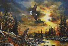 "Jim Hansel ""Watchful Eyes"" Eagle Print Signed and Numbered  28"" x 19"""