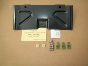 NOS MoPar 1981 82 83 Chrysler Imperial Front Bumper License Mounting Bracket Pkg