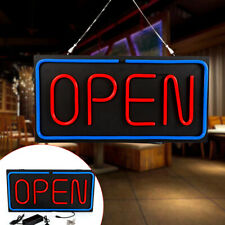"""24""""x12"""" Led Open Sign Light Bright Horizontal Hanging Chain Sign Lamp Board 30W"""