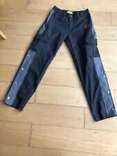 Punchline Underground Logo Button Detail Trousers Size Small (8/10)