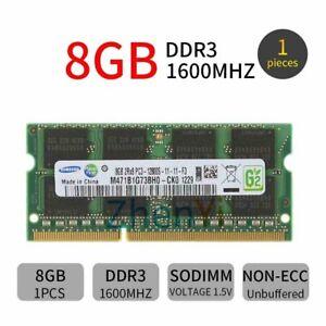 Samsung 8GB 1600MHz 4GB DDR3 PC3-12800 SO-DIMM 204Pin Laptop Memory SDRAM LOT BT