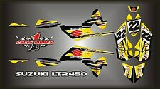 SUZUKI LTR 450 QUADRACER  SEMI CUSTOM GRAPHICS KIT BLACK