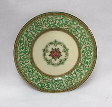 "Wedgwood china Praze Green W2831 Floral Center pattern Bread Plate - 6"""