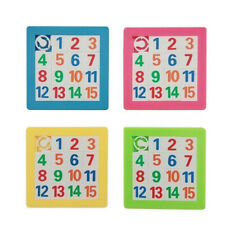 3D Numbers Alphabets Learning Jigsaw Plastic Sliding Puzzle DIY Educational Toy