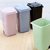 EP_ Mini Plastic Desktop Garbage Basket Table Waste Bin Home Office Trash Can Ey
