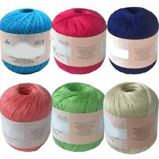Solid Mercerized Cotton Cord Thread Yarn Embroidery Crochet Knitting Lace Thread