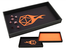DICE TRAY - Reversible Orange Rolling Mat Tray - DnD AD&D RPG Dungeons Dragons