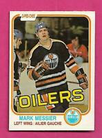 1981-82 OPC # 118 OILERS MARK MESSIER 2ND YEAR EX-MT CARD (INV# D1654)