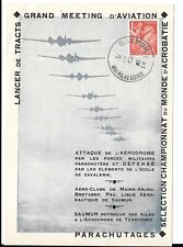 FRANCE 1947 AVIATION SHEET/CARD