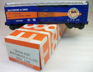 LIONEL POSTWAR LATE 6464-400 B &O TIME SAVER BOX CAR FANTASTIC SILVER LN+ OB!