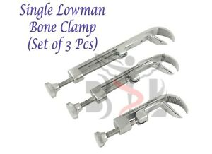 Orthopedic Single Lowman Bone Clamp Stainless Steel Surgical Instruments