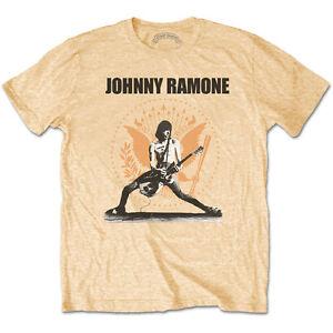 RAMONES- JOHNNY RAMONE ROCKIN N SEAL Official T Shirt Gold Mens Licensed Merch