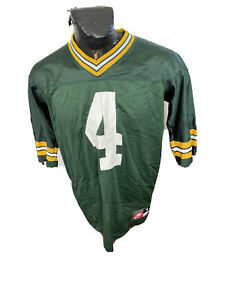 MENS Medium Football Jersey Green Bay Packers Brett Favre #4 Nike