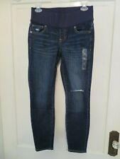 NWT GAP Maternity Demi Panel Destructed Legging Skimmer Jeans Women Sz 25/0