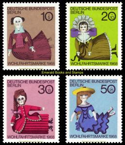 EBS Berlin 1968 Welfare - Dolls - Puppen Michel 322-325 MNH**