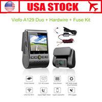 Viofo A129 Duo 1080P 30FPS Dash Camera G-Sensor Wi-Fi + GPS + Hardwire Fuse Kit