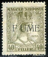 "Fiume 1918 Carlo e Zita n. 26d * varietà ""F UME"" (m1289)"