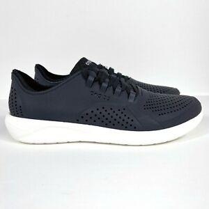 Crocs LiteRide Pacer Men's Size 10 Black Lace up Sneaker Shoes 204967
