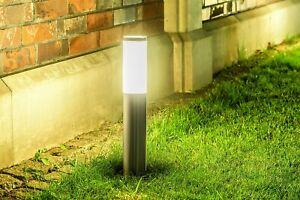 CGC Stainless Steel Modern Short Outdoor Post Bollard Pathway Garden Light