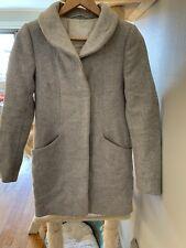 Stunning Aritzia Cocoon Wool Coat In heather White ( Very Light Grey) XXS.