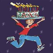 Quentin Blake Grande Torta Feliz Cumpleaños Tarjetas de rango de humor Cuadrado Tarjeta de felicitación