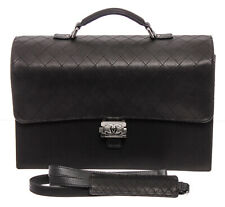 Chanel Black Caviar Leather Boy Briefcase Bag