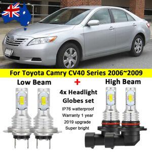 For 2007 2008 Toyota Camry CV40 4x Headlight Globes LED bulbs High Low beam Kit