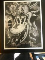 EncephlOctopoid 12x15 signed print By Frank Forte Pop Surrealism Betty Boop