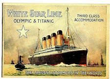 Titanic Information Booklet London New York Voyage Antique History Drawing 1912