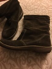 ECCO Brown Suede Wool Lined Mid-Calf Winter Boots EUR 39 US 8.5 NWOB