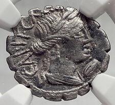 Roman Republic 81BC CERES & BULLS Plowing Ancient Silver Roman Coin NGC i61975