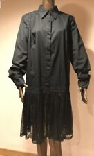 DENIS DEVAED WOMENS LONG T-SHIRT DRESS WITH LACED SKIRT , Size M